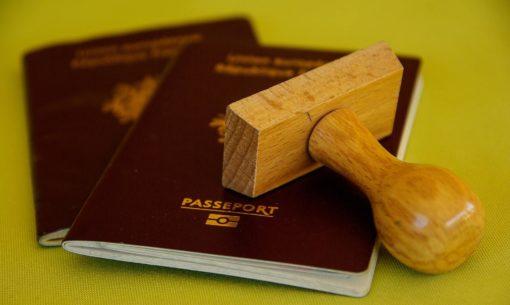 Showing Schengen Visa Sticker At Border Control