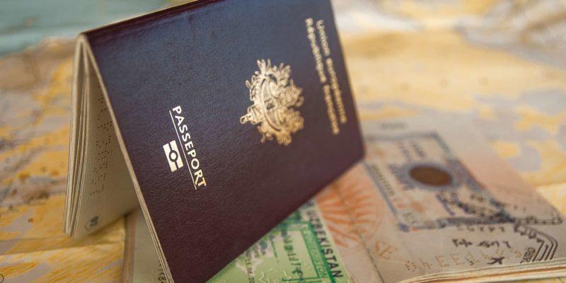 Passport With Schengen Visa Sticker