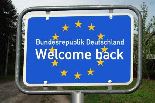 Showing A Schengen Visa Sticker At Germany's Border