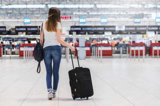 Woman Travelling With A Schengen Visa
