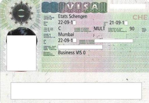 Reading A Schengen Visa Sticker