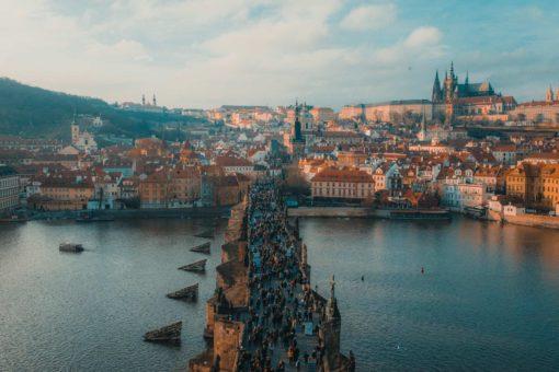 Tourists Visiting Prague With A Schengen Visa